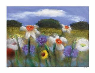 """Bild """"Landschaftsblumen"""", ungerahmt"""