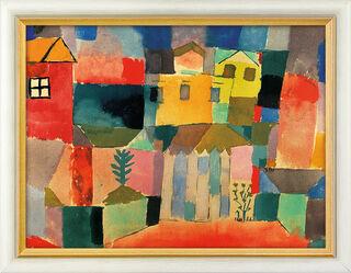 "Bild ""Häuser am Meer"" (1914), gerahmt"