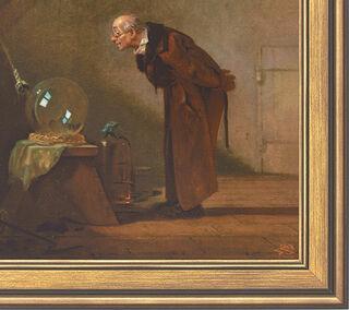 """Bild """"Der Alchimist"""" (1860), gerahmt"""