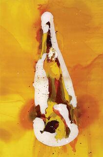 """Bild """"Flasche auf orangenem Hintergrund"""" (2013)"""