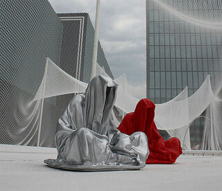 "Figur ""Guardians of Time - Mini Wächter"", silberlackierte Version"