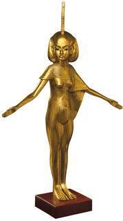 "Skulptur ""Schutzgöttin Isis"" (Originalgröße), vergoldet"