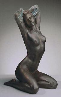 """Skulptur """"Nudo - Akt"""" (1993), Version in Kunstmarmor bronziert"""
