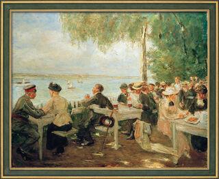 """Bild """"Gartenlokal an der Havel - Nikolskoe"""" (1916), gerahmt"""