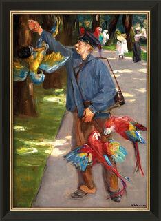 """Bild """"Der Papageienmann"""" (1902), gerahmt"""
