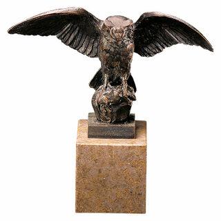 "Skulptur ""Eule"", Metallguss"