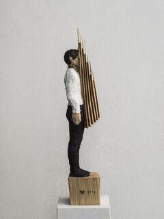 """Skulptur """"Ohne Titel"""" (2018) (Unikat), Holz"""