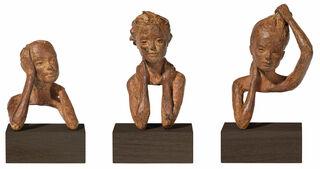 "3 Skulpturen ""Emotionen"" im Set, Bronze"