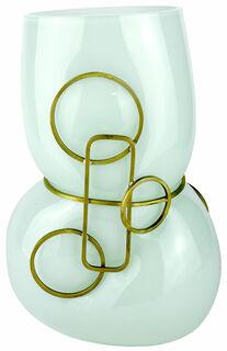 "Vase ""Primavera Mint"", Glas/Zinn"