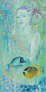 "Bild ""Meerjungfrau"", auf Keilrahmen"