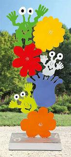 """Gartenskulptur """"Monster-Blumentanz"""""""