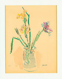 """Bild """"Gelbe und violette Iris"""" (1980), ungerahmt"""