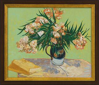 """Bild """"Vase mit Oleander und Büchern"""" (1888), gerahmt"""