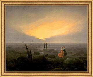 "Bild ""Mondaufgang am Meer"" (1821), gerahmt"
