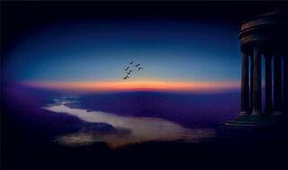 """Bild """"Early Dawn"""" (2008), auf Keilrahmen"""