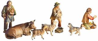 """Krippenfiguren """"Drei Hirten (ohne Tiere)"""", Holz handbemalt"""