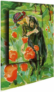 """Bild """"Frau mit Mohnblumen"""" (1918/19), Dimension 2"""