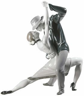 "Porzellanfigur ""Leidenschaftlicher Tango"", handbemalt"