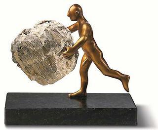 """Skulptur """"Nachrichtenüberbringer"""", Version in Bronze"""