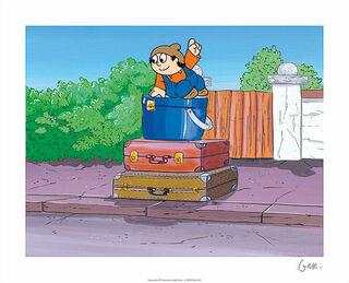 """Bild """"Koffer"""", ungerahmt"""