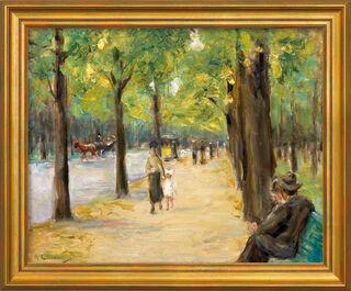 """Bild """"Im Tiergarten Berlin"""" (um 1920), gerahmt"""