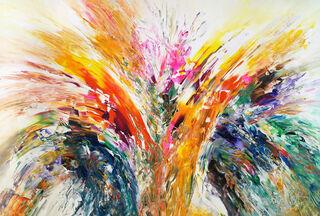 "Bild ""Splashing Colors"" (2019) (Original / Unikat), auf Keilrahmen"