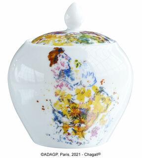"""Kollektion """"Les Bouquets de fleurs"""" von Bernardaud - Zuckerpott, Porzellan"""