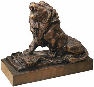 """Skulptur """"Der weinende Löwe"""" (Le lion qui pleure), Version in Kunstbronze"""