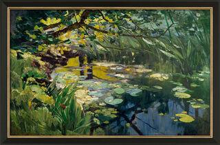 """Bild """"Teich in der Mark"""" (1902), gerahmt"""