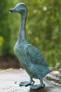 "Gartenskulptur ""Laufente"", Bronze"
