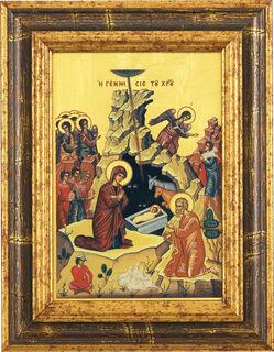 "Bildikone ""Die Geburt Christi"""