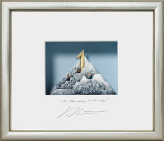 """3D-Bild """"On the way to the top"""", gerahmt"""