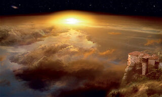 "Bild ""And Earth Below"" (2009), auf Keilrahmen"