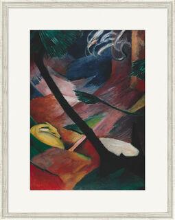 """Bild """"Reh im Walde II"""" (1912), gerahmt"""