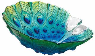 """Glasschale """"Pfau"""" (klein, Ø ca. 20 cm)"""