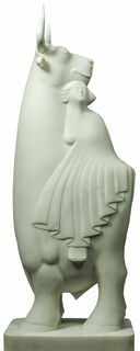"""Skulptur """"Europa und der Stier"""", Marmor"""