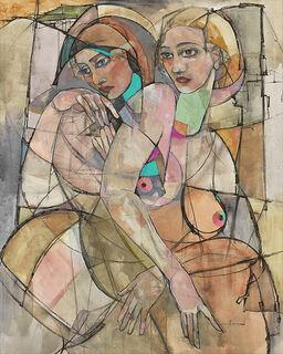 """Bild """"Stadt der Frauen"""", auf Keilrahmen"""