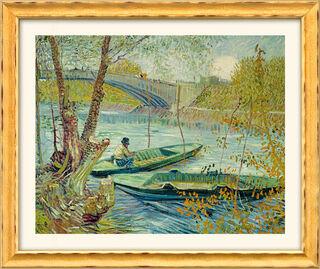 """Bild """"Fischen im Frühling"""" (1887), gerahmt"""