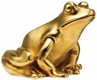 """Skulptur """"Froschkönig"""", Version vergoldet"""