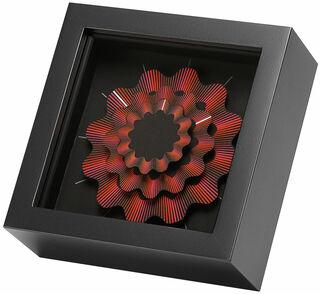"""Zeitkunst-Designuhr """"Red Ribbon"""", Version als Tischuhr"""