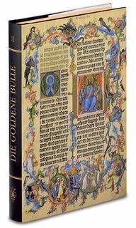 """Buch-Reprint """"Die Goldene Bulle"""" (um 1400)"""