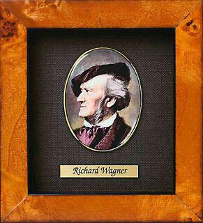 "Miniatur-Porzellanbild ""Richard Wagner"" (1813-1883), gerahmt"