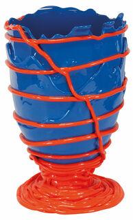 """Vase """"Pompitu II blau-orange"""", Silikon"""