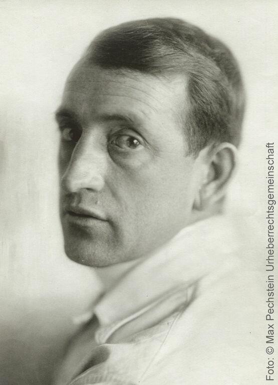 Porträt des Künstlers Max Pechstein