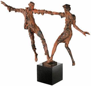 "Skulptur ""Liebespaarbalance"", Bronze"