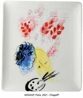 "Kollektion Marc Chagall von Bernardaud - Porzellanschale ""Double Visage"""