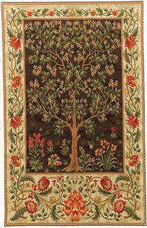 """Wandteppich """"Tree of Life"""" (braun, klein 68 x 94 cm) - nach Wiliam Morris"""