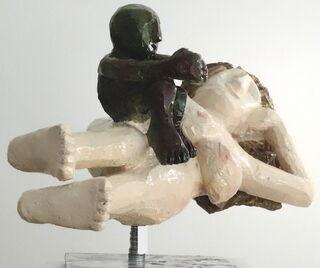 """Skulptur """"mannundfrau"""" (2020) (Unikat), Aluminium"""