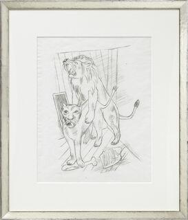 """Bild """"Löwenpaar"""" (1921)"""