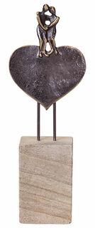 """Skulptur """"Liebende"""", Bronze auf Stein"""